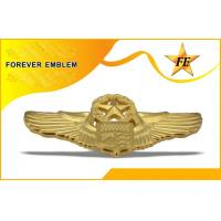 Buy cheap Custom Military Badges For Air Force / Hat Pin , Emblem 24k Gold Plating Badges from wholesalers
