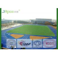 Buy cheap Blue Athletics Running Track Surface With Laaf Certificate , PU Spray Coat from wholesalers