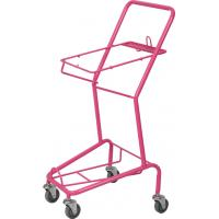 Buy cheap Pink Supermarket Shopping Cart , Powder Coating Basket Trolley HBE-J-8 from wholesalers