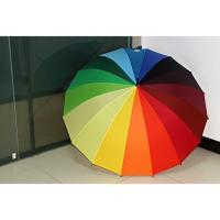 Buy cheap Rainbow Custom Golf Umbrellas With Metal Straight Frame / Folding Sun Protection Umbrella from wholesalers