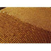 Buy cheap 3x3mm Gold Metal Mesh Fabric ,  Smooth Surface Sequin Mesh Fabric Cloth from wholesalers