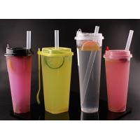 Buy cheap Premium Colorful Disposable Plastic Drinking Straws For Bubble Tea 12x230mm from wholesalers