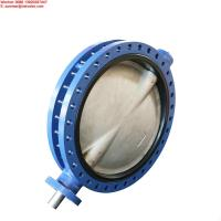 Buy cheap Manufacturer Flange Type End Pressure Double Flanged Butterfly Valve from wholesalers
