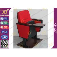 Buy cheap Lecture Hall Folding Theater Seats Small Back Fixed Auditorium Chairs With Writing Pad from wholesalers