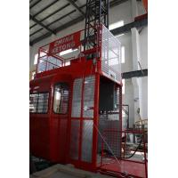 Double Cage Construction Material Hoist Lifting Equipment 36 M / Min 60HZ Ketong SC200 200TD