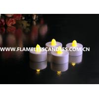 Buy cheap White Body flameless LED Tealight Candles , Plastic LED Candles Set for Christmas or Event from wholesalers