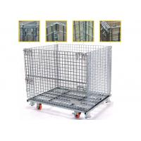 Buy cheap High Strength Collapsible Wire Containers Storage Cages For Handling Loading / Unloading from wholesalers