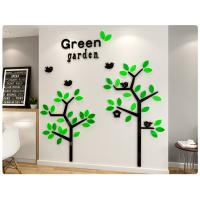 Buy cheap Wholesale customized tree wall stickers self-adhesive acrylic material wall sthickers from wholesalers
