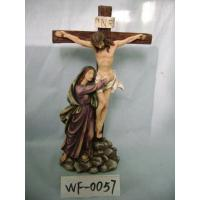 Buy cheap Religious Polyresin Figurine Matte Finish With Jesus On Cross 12 Inches from wholesalers