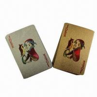 Buy cheap 24K Gold Foil Playing Cards, Customized Designs are Accepted from wholesalers