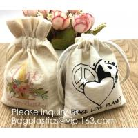 Buy cheap Personalized Drawstring Cotton Muslin Bag for Jewelry,Christmas Treat Bag Double Drawstring Gift Treat Pouch Cute Snowma from wholesalers