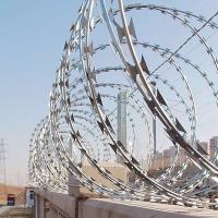 Buy cheap 430 Stainless Steel Barbed Wire , BTO-30 Razor Blade Barbed Wire Good flexibility from wholesalers