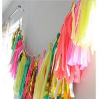 Buy cheap Wholesale  Tissue Tassel Photo Prop Photo Background Fiesta  Party Home Decor/Baby Shower DIY Kits 240PCS/Lot from wholesalers