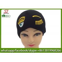 Buy cheap Chinese manufactuer  embroider knitting stripe hat 53g 20*22cm 100%Acrylic keep warm from wholesalers