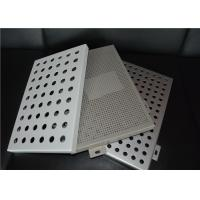 Buy cheap Aluminum Round Hole Architectural Perforated Metal Panel / Perforated Metal Sheet from wholesalers