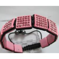 Buy cheap Hot Selling Pink Shamballa Beads Bracelets With Square Crystal Beads from wholesalers