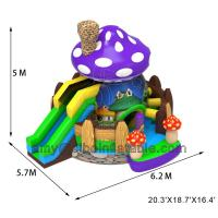 Buy cheap Sibo Inflatable New Products Mushroom Bouncer Castle With Slide Backyard Activity Equipment from wholesalers
