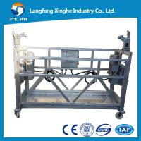 Buy cheap electric scaffold platforms / zlp630 aluminum  cradle machine / zlp800 hto dip hanging gondola from wholesalers