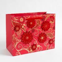 Buy cheap Multilayer 157 Gram Art Paper Gift Bags Custom Printed , Shopping Gold / Silver Hot Stamping from wholesalers