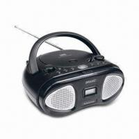 Quality Boom Box MP3 and CD Player with Bulit-in Speaker and AM/FM Two Band Radio for sale