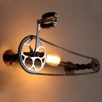 Buy cheap Bar cafe pub bedroom livng room stair villa E27 Edison Bulb Loft Bicycle wall lamp (WH-VR-23) from wholesalers