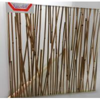 Buy cheap Mini Bamboo Tempered Laminated Glass Partition Walls For Home , Unique Design from wholesalers