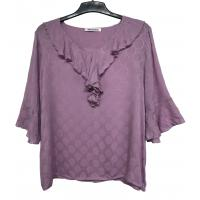 Buy cheap Cool Women'S High Fashion Blouses / Ladies Short Sleeve Shirts Simple Design from wholesalers