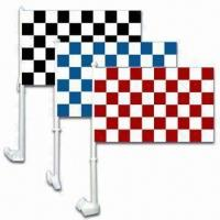 Buy cheap Outdoor Checkered Car Flag with Advertising Printing, Made of Polyester or Knitted Polyester product