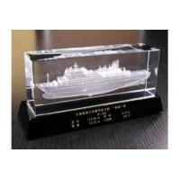 Buy cheap Fine quality 3D laser engraving crystal business gift from wholesalers
