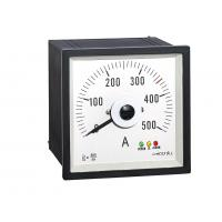 Buy cheap Wide Angle  Analog Panel Ammeter 96*96mm , Analog Ac Amp Panel Meters Wtih Rectifer Ct500/5a from wholesalers