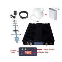 Buy cheap Triple Band Mobile Signal Booster 23 DBm Cover 75dB Gain 2000sqm Coverage from wholesalers