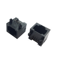 Buy cheap Thermoplastic Housing Modular 8P8C RJ45 Female Connector For PCB product