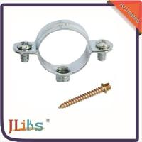 Buy cheap Steel Building Wall Mount Pipe Clamp Metal Tube Clips 45+-5° Shore Hardness from wholesalers