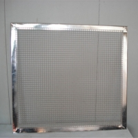 Buy cheap Open Area 45% Framed SS316L Decorative Metal Lattice Panels from wholesalers