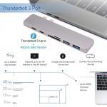 Buy cheap USB C Hub Macbook Pro HDMI Thunderbolt 3 Dock, HomeSpot Aluminum USB Hub for 2016/2017 MacBook Pro 13 & 15 4K HDMI from wholesalers