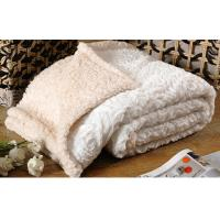 Buy cheap Custom Solid Brushed Faux Fur Throw Blanket 100% Polyester 280gsm from wholesalers