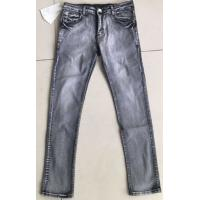 Buy cheap Men's Foreign trade light gray elastic jeans slim nostalgia fast sell Amazon explosion men's denim trousers. from wholesalers