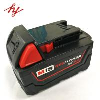 Buy cheap Milwaukee 18volt 9.0Ah Capcacity li-ion power tool battery  corldess impact drill battery lithium hammer battery from wholesalers