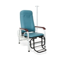 Buy cheap High-Quality Steel Pipe Structure Wooden Handrail Patient Transfusion Chair With IV Pole from wholesalers