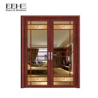 Buy cheap Customized Sized French Aluminium Swing Door With Stained Glass High Strength from wholesalers