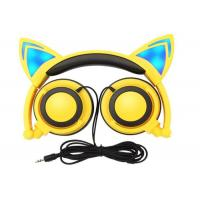Buy cheap high quality and cheap price Noise cancelling headphone Cool colorful led wired cat ear headphones from wholesalers