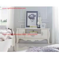 Buy cheap Ivory Classic TV stand wood furniture Audiovisual cabinet in White matt PU from wholesalers