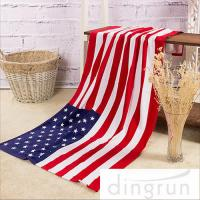 Buy cheap American Flags Artwork Custom Printed Beach Towels Eco Friendly Pure Cotton from wholesalers