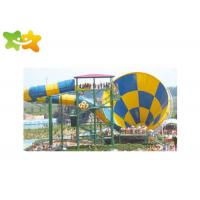 Buy cheap Commercial Fiberglass Water Slides Attractive Popular High Safety  For Aquatic Park from wholesalers