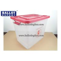 Buy cheap Recyclable 65 Liter Anti - tampering Clear Plastic Storage Bins PP Material from wholesalers