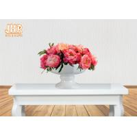 Buy cheap Footed Glossy White Fiberglass Flower Pots Floral Arrangement Display from wholesalers