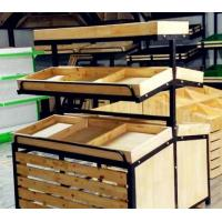 Buy cheap Double Sided Wooden Display Rack Vegetable Drying Rack Fruit Display Stand Retail Funiture from wholesalers