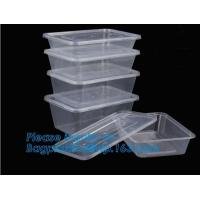 Buy cheap Wholesale 3 Compartment Take away Microwave PP High Quality food container Plastic Prep Meal disposable bento box with l from wholesalers