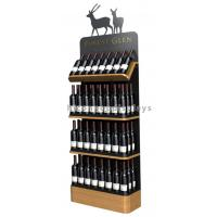 Buy cheap Freestanding Custom Wooden Wine Display Rack For Liquor Store Advertising from wholesalers