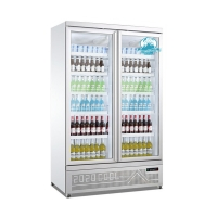 Buy cheap Glass Door Beverage Display Cooler Upright Refrigerator Showcase For Supermarket from wholesalers